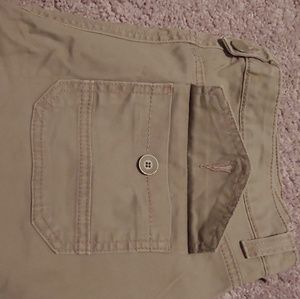 Utility olive jeans
